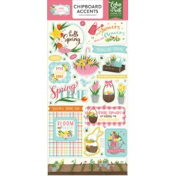 Echo Park I Love Spring 6x13 Inch Chipboard Accents