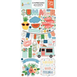 Echo Park Summertime 6x13 Inch Chipboard Accents