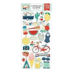 """Stickers""""ECHO PARK PAPER"""" DI STICKY CHIPBOARDS - GOOD SUNSHINE DAY """""""