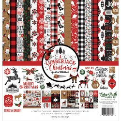 Echo Park A Lumberjack Christmas 12x12 Inch Collection Kit