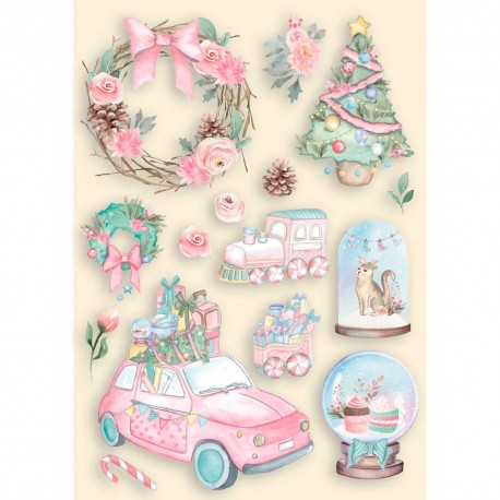 Pacchetto Wood Natale Rosa