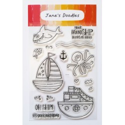 """Timbro Clear Stamps """"OH SHIP!"""""""