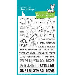 Timbro in silicone Lawn Fawn Super Star Clear Stamps