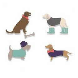 THINLITS DIE SET 10 PZ - COUNTRY CANINES