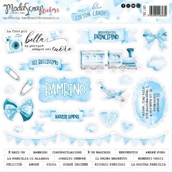 STICKERS BLUE COTTON CANDY