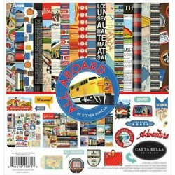 Pad Carta Bella - All Aboard 12x12 Collection Kit