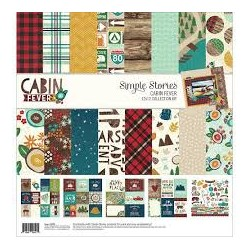 """Simple Stories Collection Kit 12""""X12""""-Cabin Fever"""