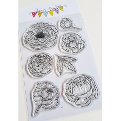 """Timbro Clear Stamps """" PEONIA """""""