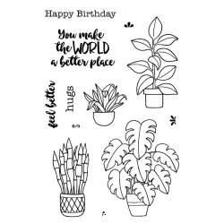 """Timbro Clear Stamps """"PLANTS """""""