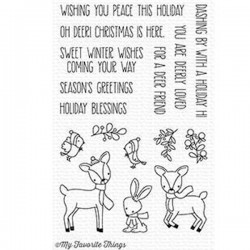 Timbro in siliconeMy Favorite Things Dashing Deer Clear Stamps