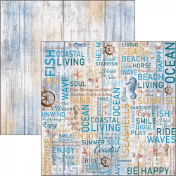 """FoglioTHE VOICE OF THE SEA DOUBLE-SIDED PAPER SHEET 12""""X12"""" -double face"""