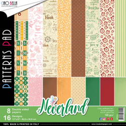 """Pad Carte -NEVERLAND DOUBLE-SIDED PATTERNS PAD 12""""X12""""double face"""