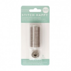 We R Memory Keepers thread stitch baker's twine gray x2