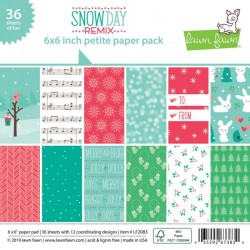 Pad Carte Lawn Fawn Double-Sided Collection Pack 15x15 cmSnow Day Remix