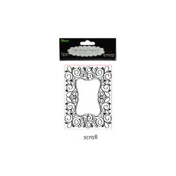 Embossing template 10,8x14,6cm scroll