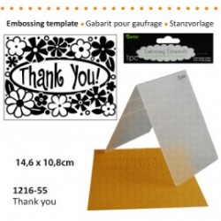 Embossing template 10,8x14,6cm thank you
