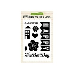 Timbro Echo Park We Are Family Happy Family Clear Stamps