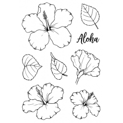 """Timbro Clear Stamps """"HIBISCUS """""""