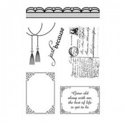 Timbro in silicone Ultimate Crafts 4x6 Inch Stamp Set Magnolia Lace