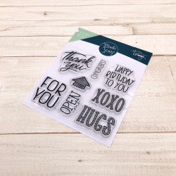 Timbro MODASCRAP CLEAR STAMPS - LINEA TOMMY - XOXO